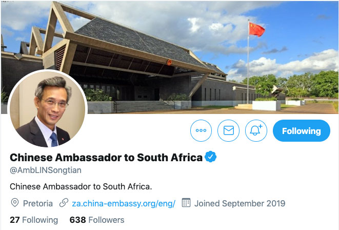 China's Ambassador to South Africa Is New to Twitter but From the Looks of It, He's Learning How to Waste Time on Social Media Just Like the Rest of Us