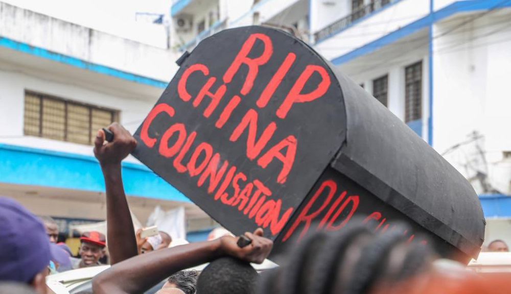 """Protesting Truck Drivers in Nairobi Link Government's Order to Transport All Cargo on SGR With """"China Colonization"""""""