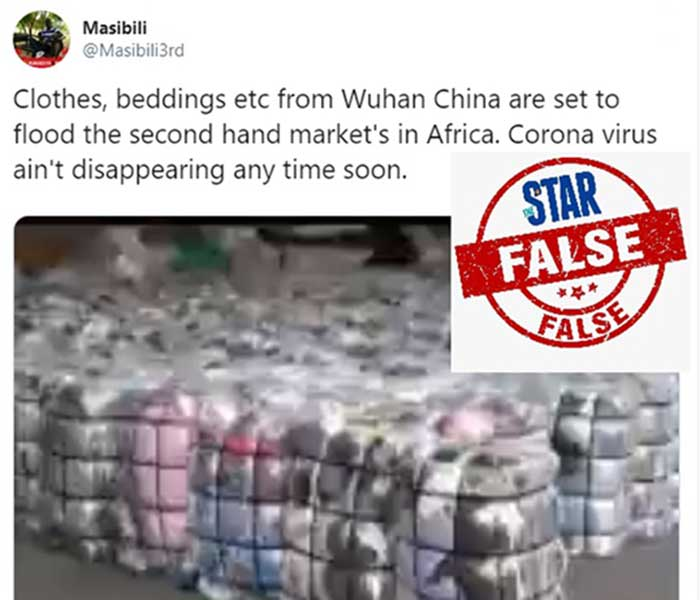 Kenya Star Newspaper Fact Checks Allegation China Sending COVID-19 Infected Mattresses to Africa
