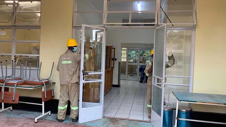 Chinese Companies in Zimbabwe Pay for Major Renovation of Harare's Main COVID-19 Care Center