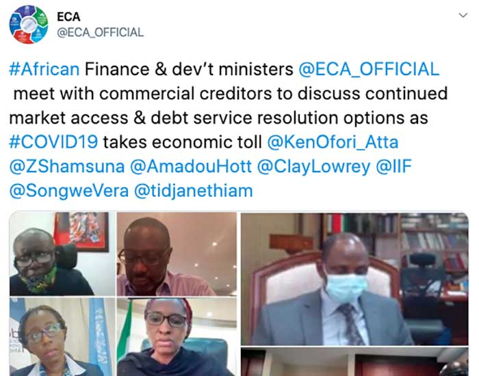 African Finance and Development Ministers Meet With Private Creditors to Try and Reach a Debt Suspension Deal