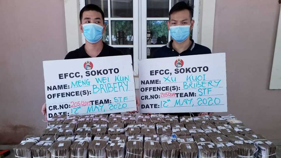 Two Chinese Nationals Arrested for Allegedly Trying to Bribe a Senior Official in Nigeria's Anti-Corruption Agency