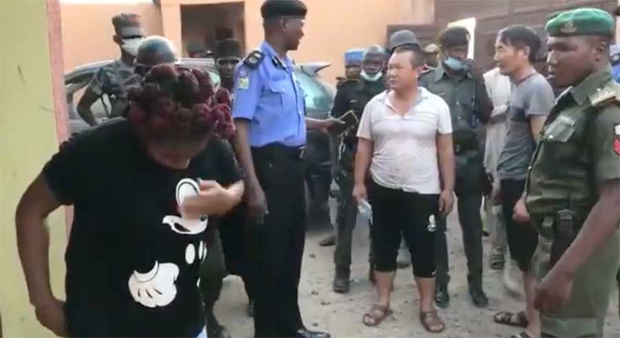 Video Released of This Week's Police Raid of Alleged Illegal Chinese Gold Mining Operation in Nigeria
