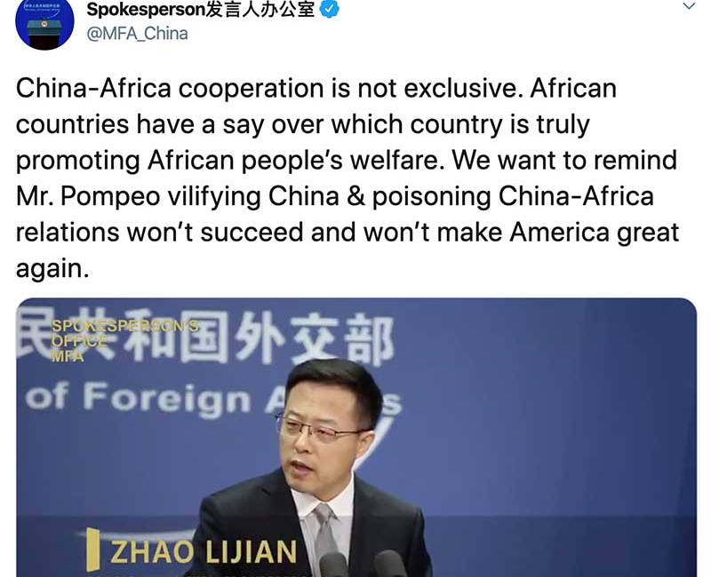 Pompeo's Critiques of the Chinese in Africa Sparks Pointed Response From Beijing