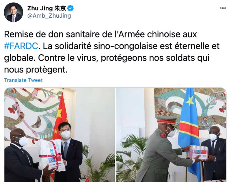 China Combines Military Outreach with PPE Diplomacy in the DRC