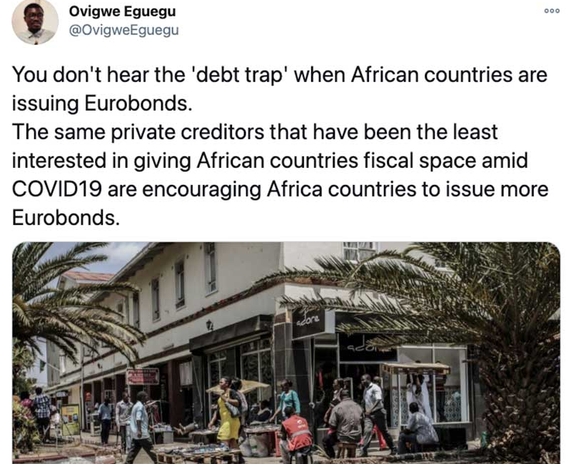 Analyst: When the Chinese Lend Africa Money, It's a Debt Trap But Not Apparently When Private Creditors Do
