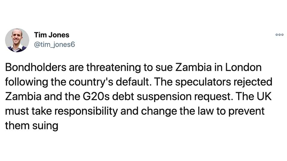 NGO: The UK, Not China is the Biggest Obstacle To Zambian Debt Relief