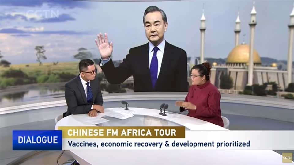 Chinese Media Coverage of Wang's Visit Sticks Closely to Official Talking Points