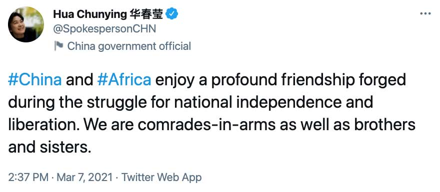 Anti-Colonial Liberation Ideology Still Very Important in the Chinese Framing of Its Ties With Africa