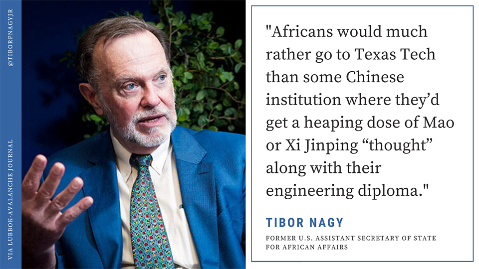 """Washington's Former Top Diplomat For Africa: """"China's Kicking Our Tails Everywhere"""""""