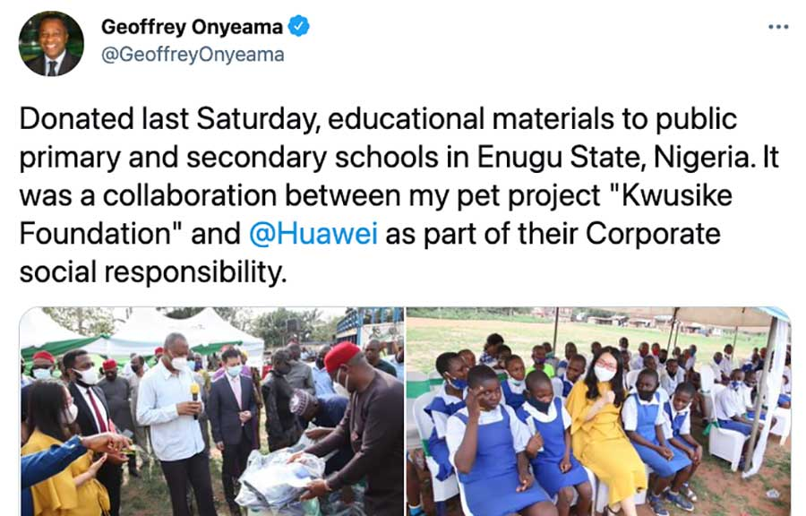 This Tweet Shows Why the U.S. Effort to Dislodge Huawei in Africa is Just Not Going to Work