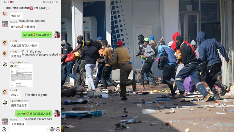 Chinese Businesses in South Africa Form Armed Self Defense Groups to Protect Their Property From Looters