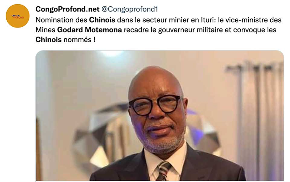 Should Chinese Nationals Help Supervise Mining Activities in the DRC? A Military Governor Thinks So, But Kinshasa Says Otherwise