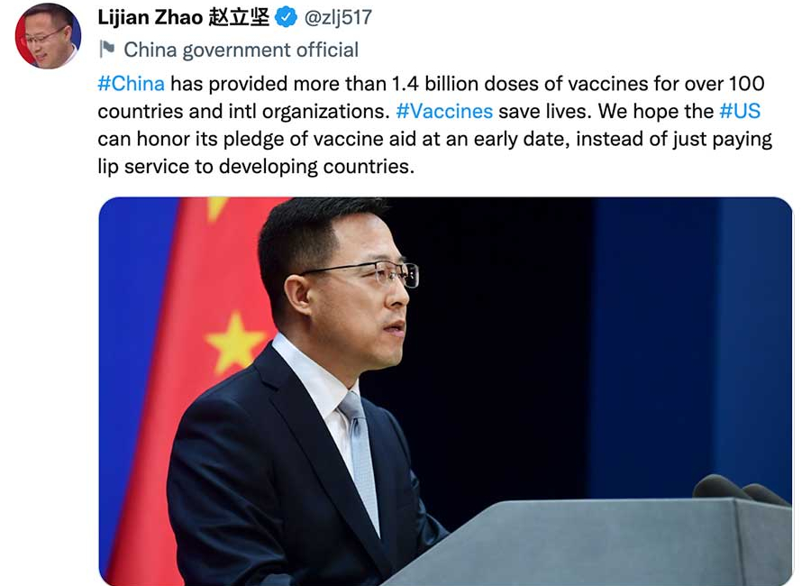 China Targets the U.S. Over Vaccine Shipments to Developing Countries